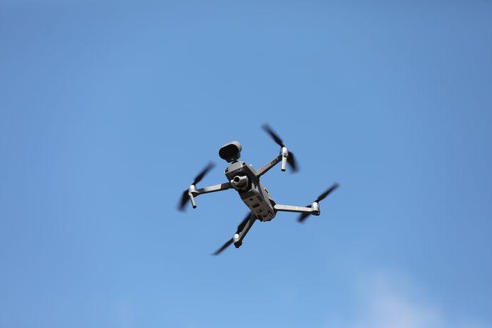 De politie zette deze drone in op het Kaapseplein