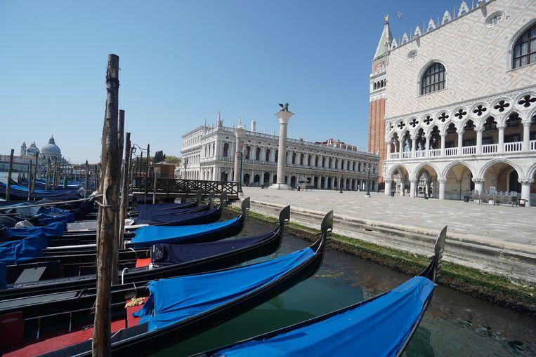 In Venetië is er niemand op straat. Beeld EPA