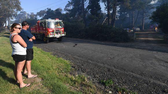 Gesmolten asfalt in Melbourne.