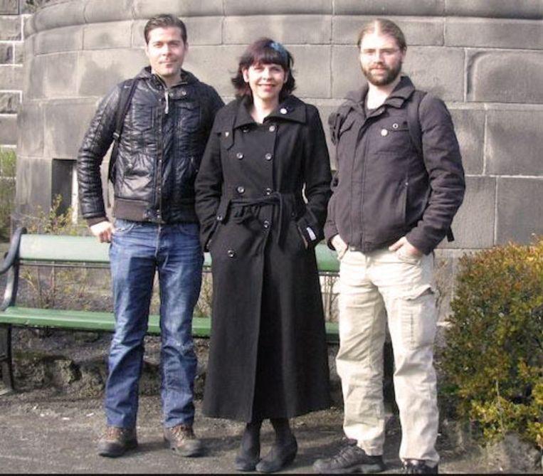 Parlementsleden van de Piraten: Jón Þór Ólafsson (inmiddels vervangen), Birgitta Jónsdóttir en Helgi Gunnarsson. Beeld kos