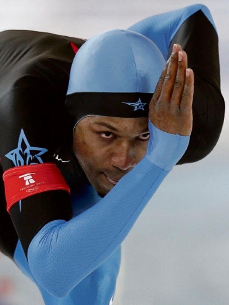De eigenzinnige Davis is ongenaakbaar op de 1000 meter. (FOTO AP) Beeld AP