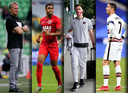 Vlnr: Heracles-trainer Frank Wormuth, Myron Boadu, Nick Viergever en Cristiano Ronaldo legden allemaal recent een positieve coronatest af.