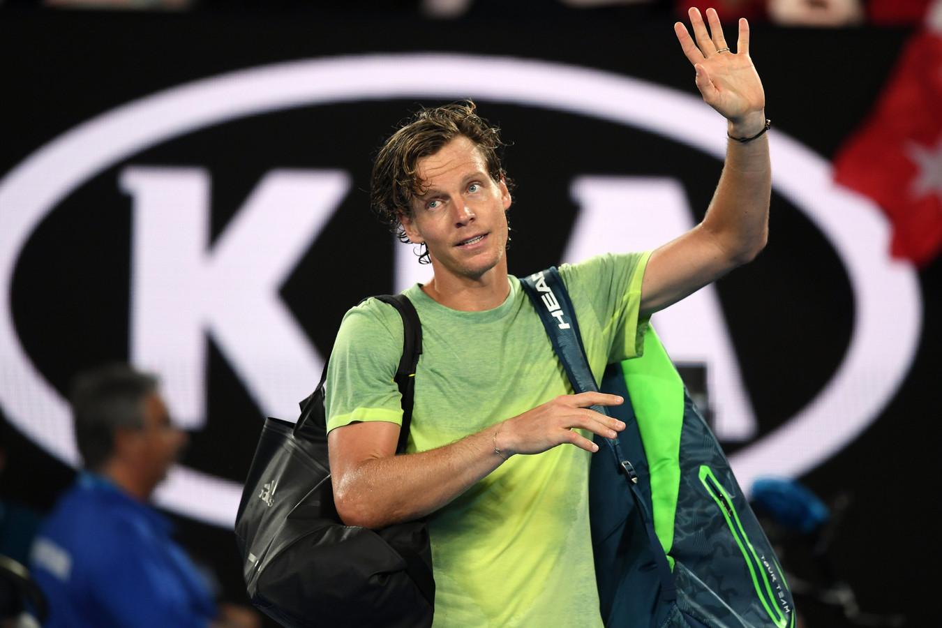 Tomas Berdych, ici à l'Open d'Australie en 2018, a déclaré forfait pour Roland-Garros.