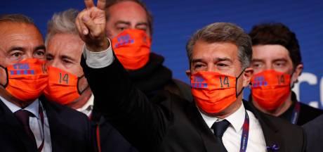 Laporta viert terugkeer als preses Barça met eerbetoon aan Cruijff