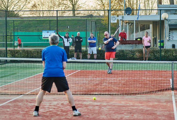 De tennisvereniging aan de Stationsingel te Ravenstein.