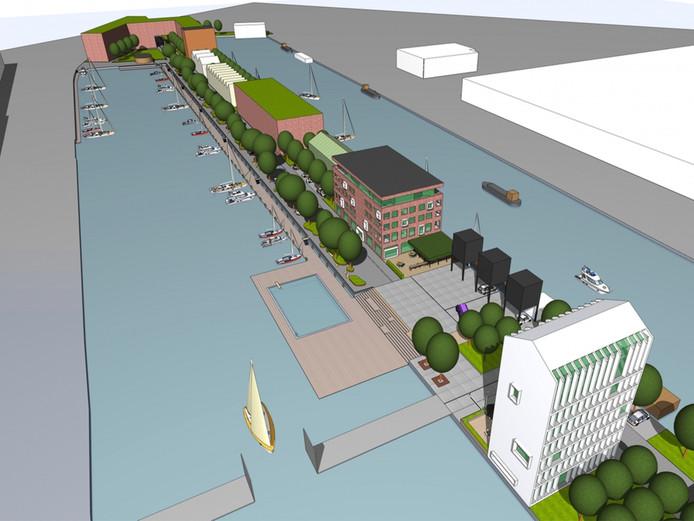 Idee zwembad en woningen op parkeerterrein bij for Zwembad s hertogenbosch