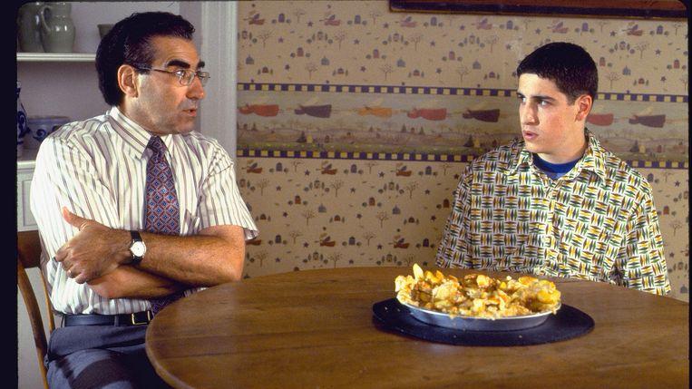 Eugene Levy en Jason Biggs in American Pie van Paul en Chris Weitz Beeld