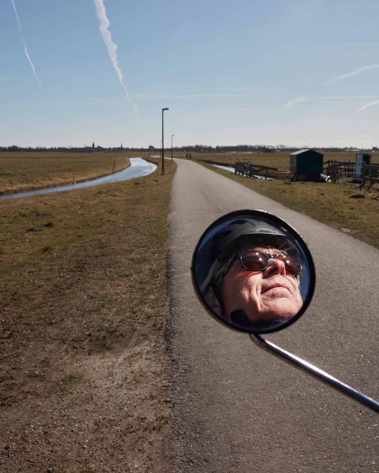 Arno op de fiets. Beeld Erik Smits