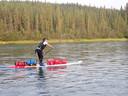 Alex de Sain (43) uit Vinkeveen supte twee lange tochten door Canada.