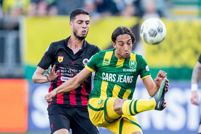 Hicham Faik in duel met Nasser El Khayati.