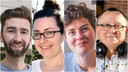 Creatieve docenten Jonathan De Peusseleir, Evelien Bracke, Elena Moeremans  en Bruno De Smet.