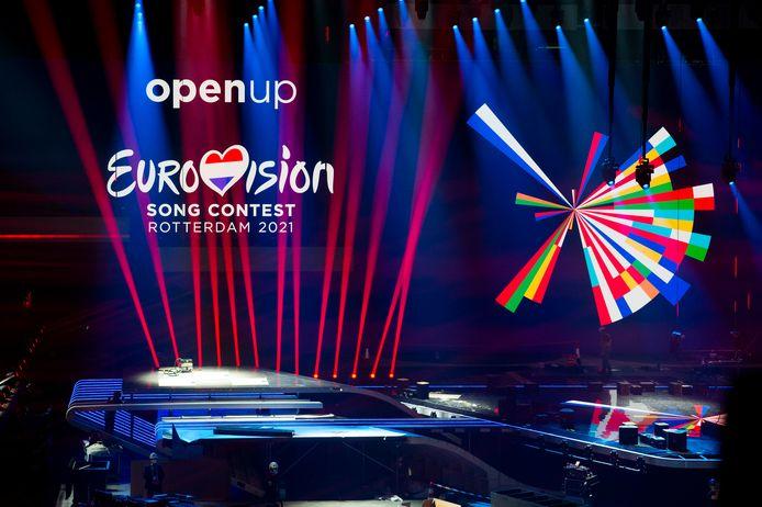 De immense set voor het Eurovisie Songfestival 2021 in Ahoy.