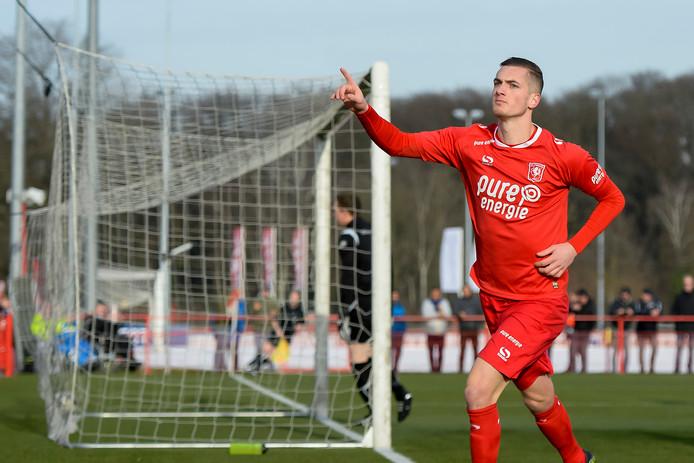 Ruben de Jager hoopt na zijn revalidatie weer te kunnen scoren voor FC Twente.
