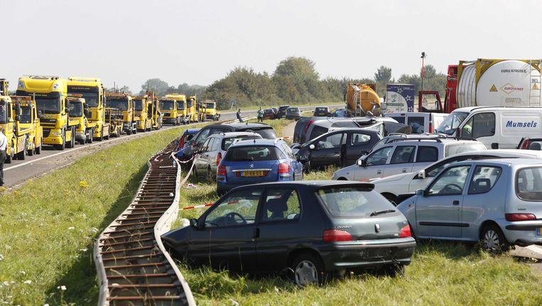 Bij de ongevallen op de A58 kwamen twee mensen om het leven Beeld ANP