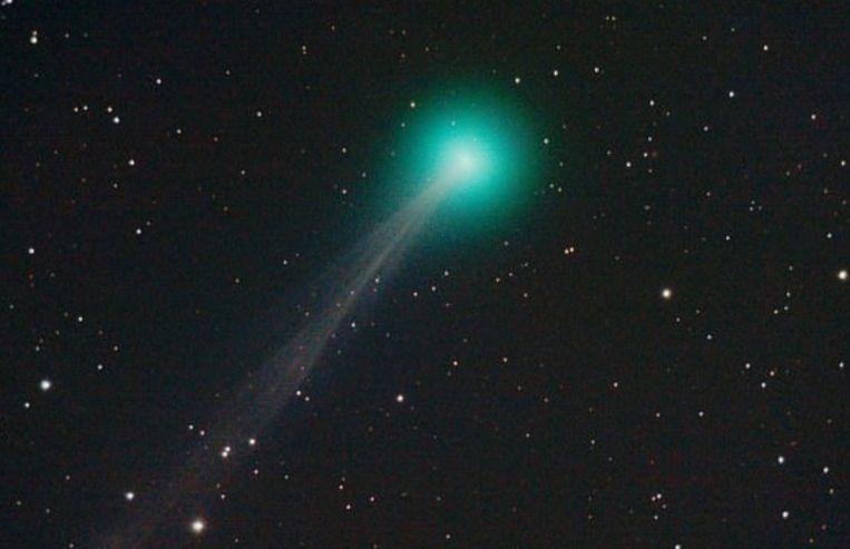 Komeet Swan is de aarde gepasseerd en nadert de zon. Beeld Twitter