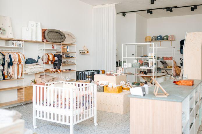 Félicie Luyten opende haar ecologische babywinkel Petit Feliz op het Eilandje in Antwerpen.