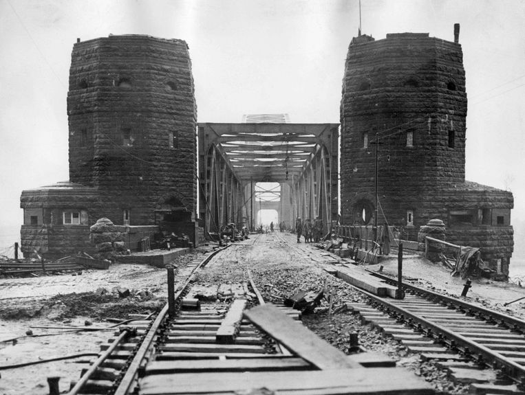 Een beeld uit 1945.