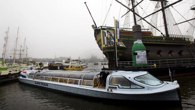 De rondvaartboot op waterstof, die Lovers drie jaar geleden introduceerde. Beeld anp