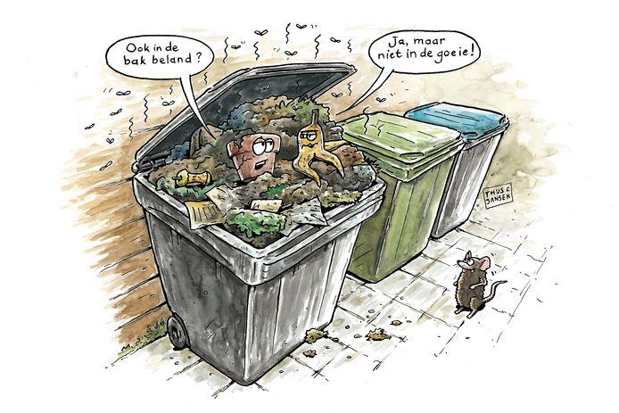 Het minder vaak legen van de grijze bak moet ertoe leiden dat Dordtenaren hun afval beter gaan scheiden.