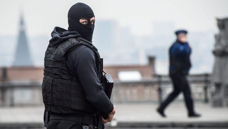 Agenten in Brussel. Beeld afp