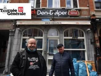 """Tournée Générale: Big Bill (70) gaat voor eerste Stella op terras van Den Delper: """"Na de eerste heropening kwamen we hier ook onze pint drinken, en dat zal nu niet anders zijn. En méér dan één ook"""""""