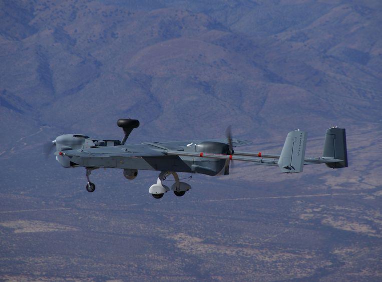 De Hunter-drone voor middellange afstanden in actie boven Afghanistan. Beeld Northrop Grumman