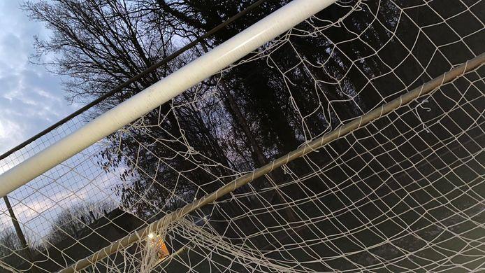 Doel vernield op sportpark De Wildbaan bij voetbalclub Reünie in Borculo
