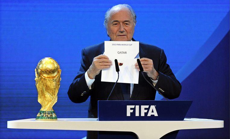 Joseph Blatter, president van FIFA. Beeld EPA
