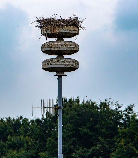 Soap rond ooievaarsnest op mast in Raalte-Noord: Voorlopig nog geen luchtalarm