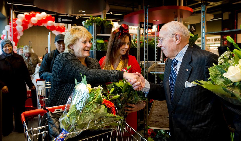 Supermarktpionier Dirk van den Broek (96) bleef betrokken