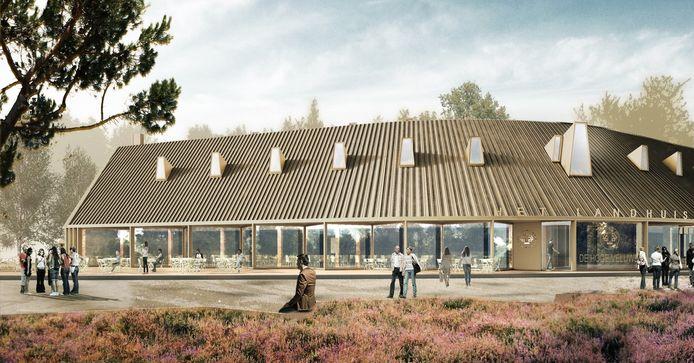 Impressie van Het Landhuis, het nieuwe bezoekerscentrum van Nationaal Park De Hoge Veluwe.
