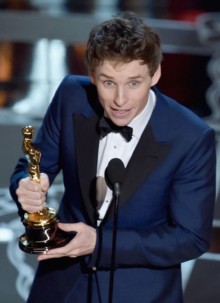 Eddie Redmayne won de Oscar voor Beste Acteur in 'The Theory of Everything'. Beeld GETTY