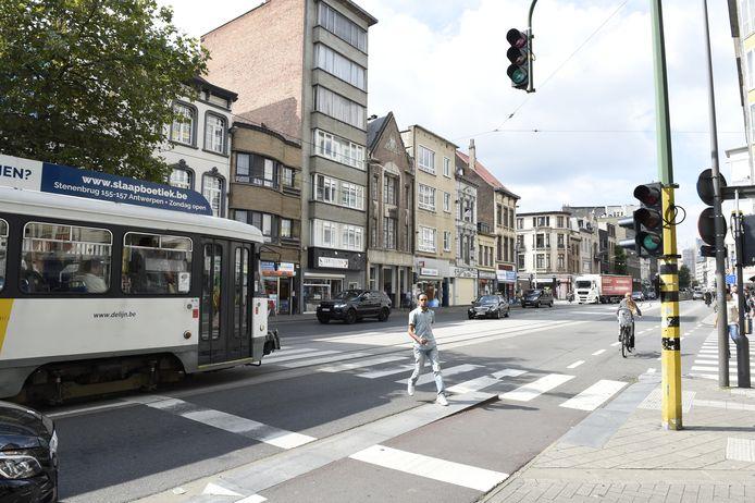 De Kerkstraat in Antwerpen.