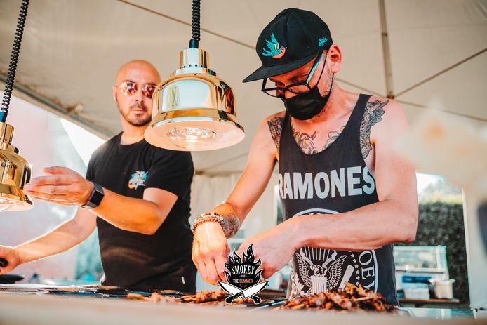 Thomas en Waldo aan het werk tijdens Smokey and the Summer.