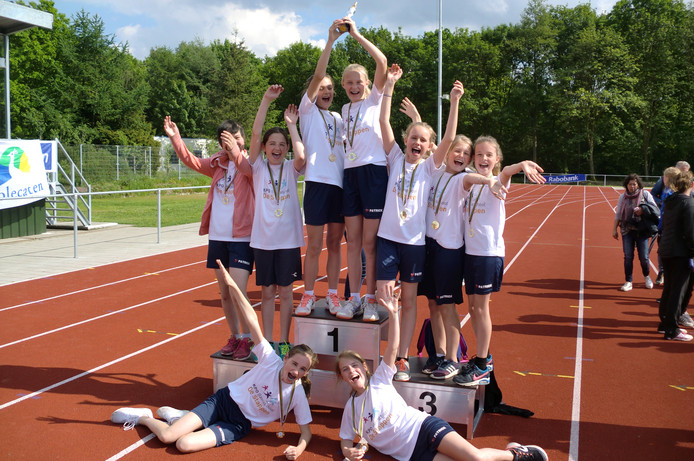 Een paar jaar geleden werd de finale van het Schoolatletiek nog gehouden in Roosendaal.
