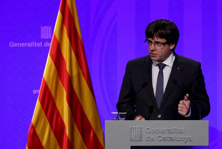 Catalaans premier Carles Puigdemont.