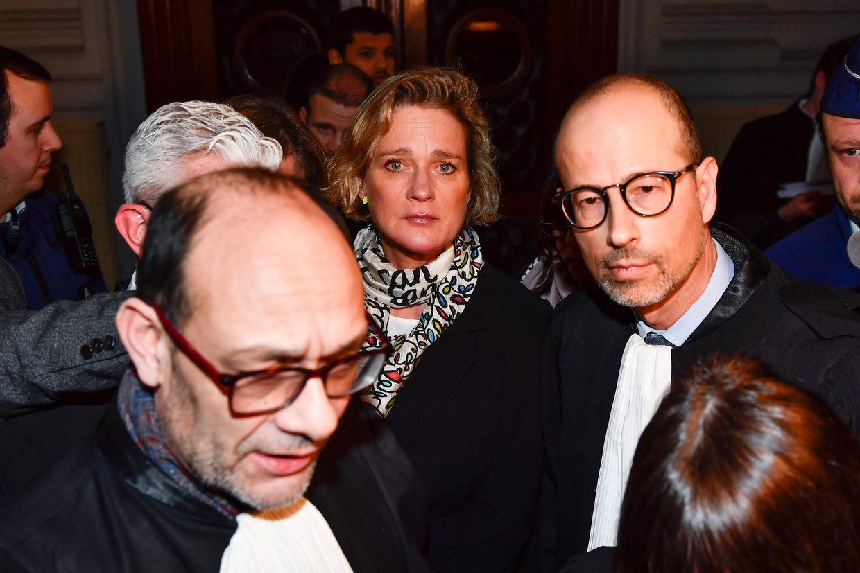 Advocaat Marc Uyttendaele (l.) en Delphine Boël.