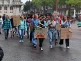 Studenten houden klimaatmars in Middelburg