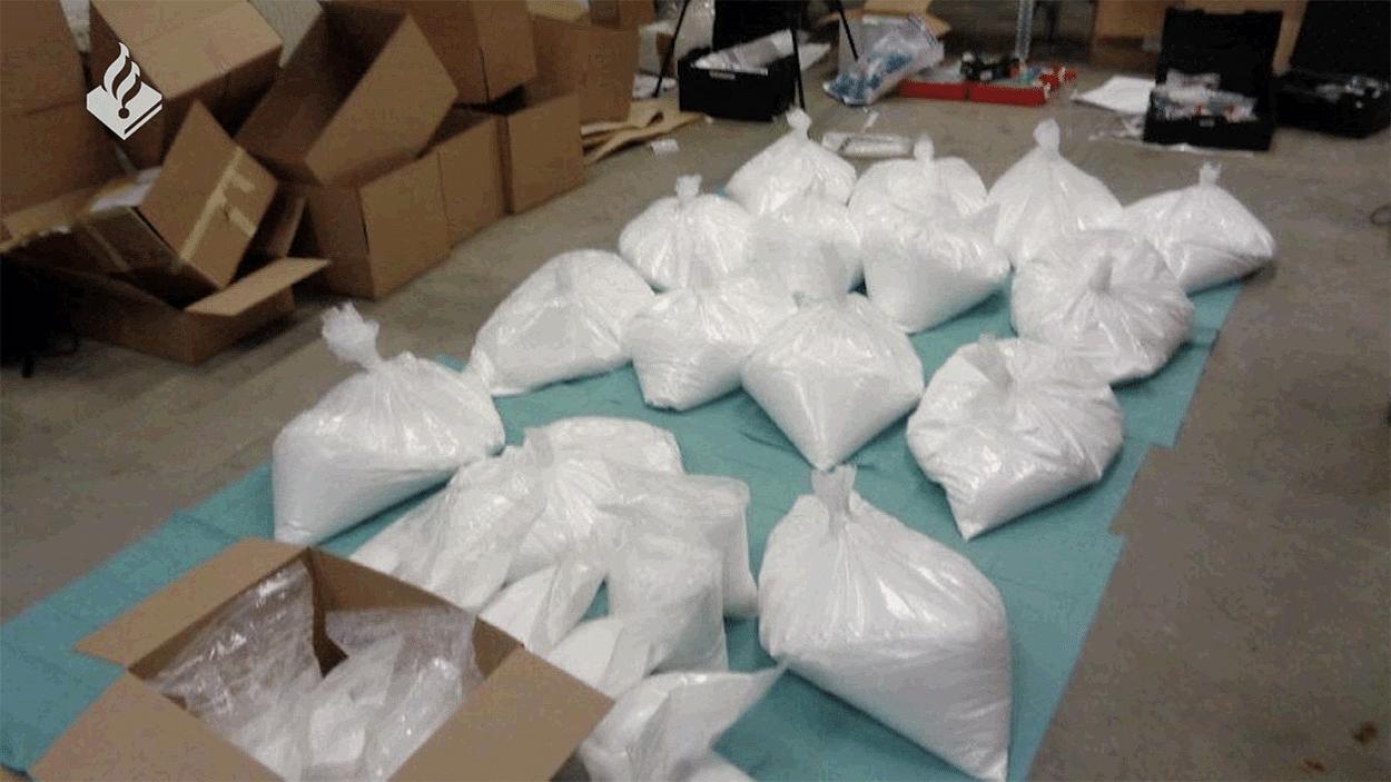De politie trof 350 kilo aan ketamine aan met een straatwaarde van ruim 8 miljoen euro.