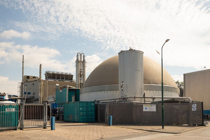 De biogascentrale in Bunschoten.