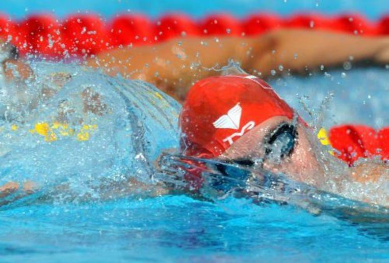Lotte Friis in actie op de 800 meter vrije slag. ANP Beeld