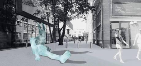 Apeldoorn krijgt beeld van reusachtige eekhoorn op rand van Caterplein