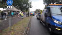 De gemeente Oss plaatste extra tenten bij de bloemenzee langs het spoor.