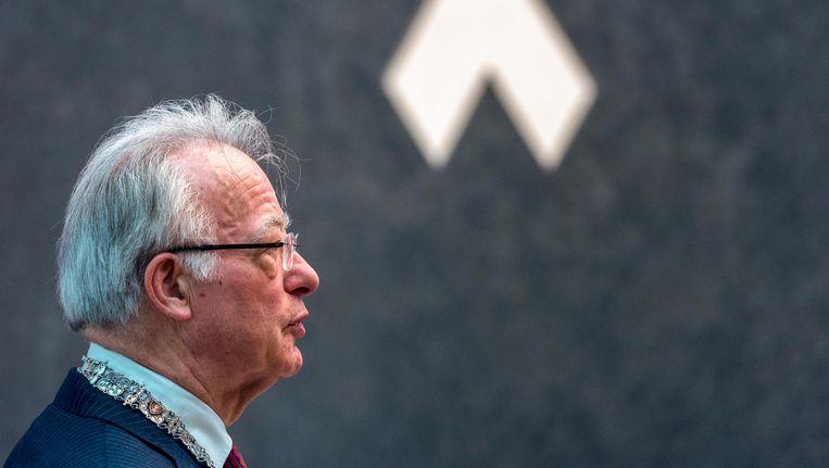 Waarnemend burgemeester Jozias van Aartsen neemt fors afstand van zijn voorganger Eberhard van der Laan. Beeld anp