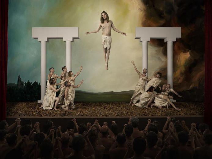 De afbeelding van Jezus Christus die tot controverse leidde.
