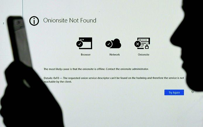 De melding op het darkweb waar de publieke website van ransomwaregroep REvil te bekijken was: de website is er niet meer.