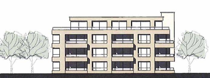 Het plan voor een gebouw met 24 appartementen aan de Croystraat in Breda.