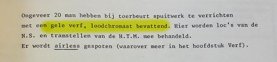 Onderzoek naar de gezondheidstoestand van verfspuiters bij NedTrain in Tilburg (1979).