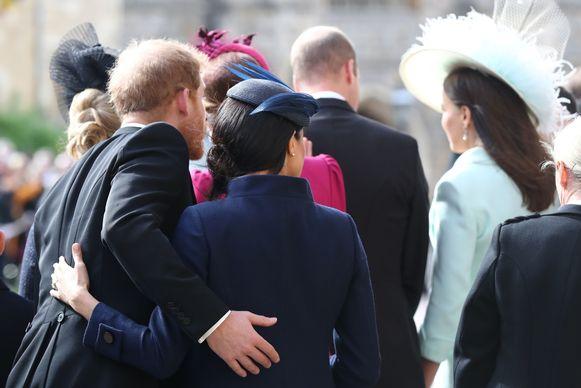 Harry en Meghan op het huwelijk van Eugenie