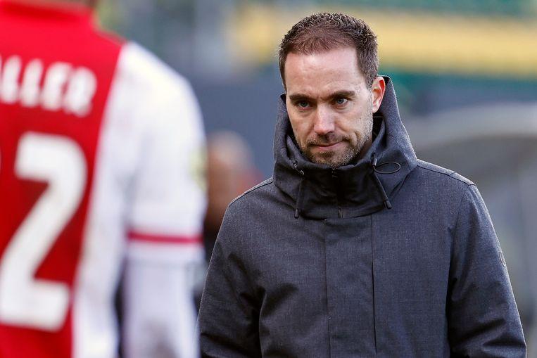 Fortuna Sittard-coach Sjors Ultee is na de nederlaag tegen Ajax (1-2) teleurgesteld.  Beeld ANP